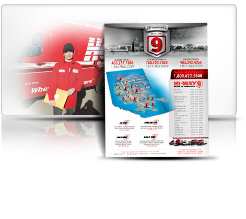 Hi-Way 9 Freight transportation, trucking and logistics - Dispatch card